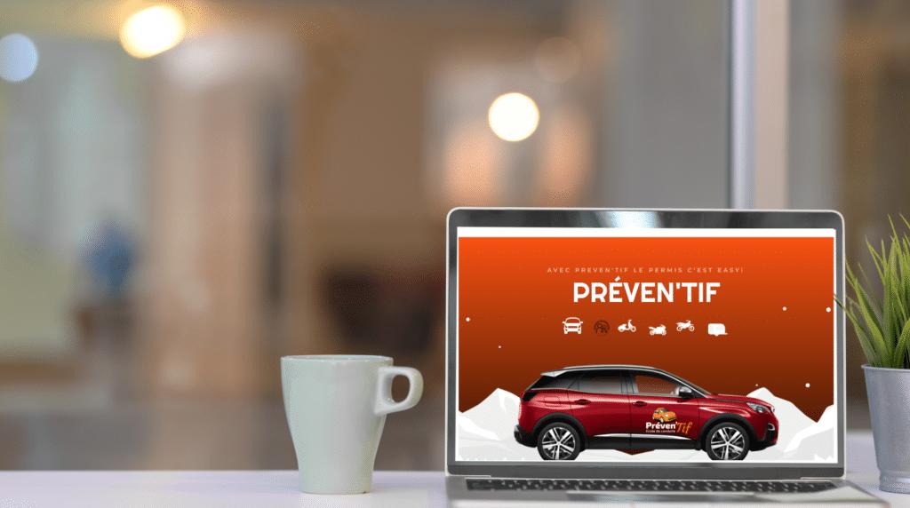 Site internet Auto Ecole Préven'Tif